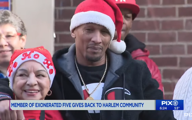 Korey Wise of The Exonerated Five Hosts Christmas Toy Giveaway in his Old Harlem Neighborhood: 'There Nothing Better'