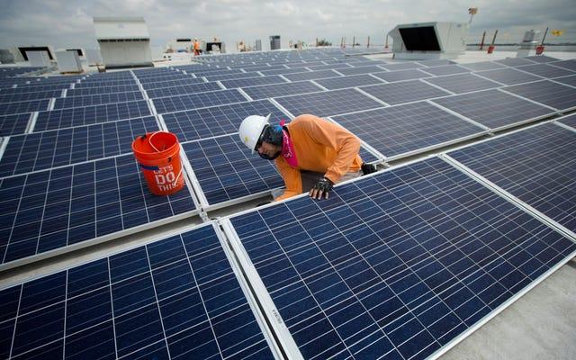 昨年減少した米国の太陽光発電の仕事