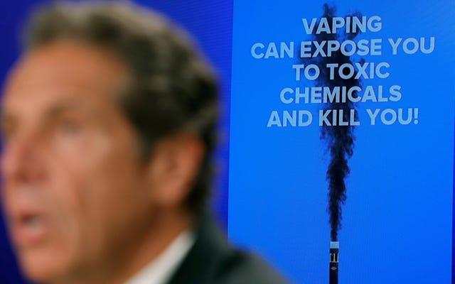 Vaping Flavorpocalypse arrive à New York alors que les autorités sanitaires de l'État ordonnent une interdiction d'urgence