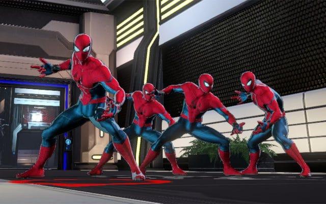 グリッチは1つのマーベルアルティメットアライアンス3パーティーで4人のスパイダーマンを許可します[更新]