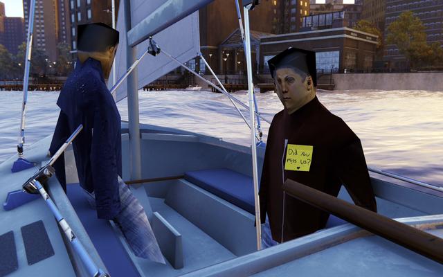 Spider-ManRemasteredのひどい見た目のボートNPCが楽しいイースターエッグを隠すようになりました