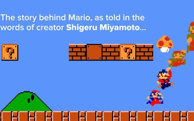 Une infographie astucieuse retrace la création et l'évolution de Mario