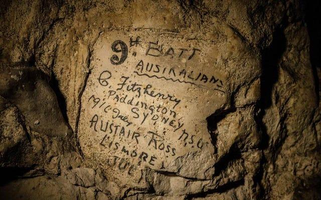 中世のフランスのトンネルで見つかった第一次世界大戦の兵士の忘れられない痕跡