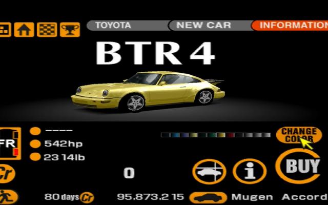 Les voitures perdues coupées de Gran Turismo 2