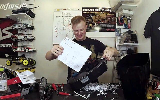 Ta niszczarka do papieru wyposażona w przerażająco mocny silnik wygląda, jakby mogła zerwać ramię
