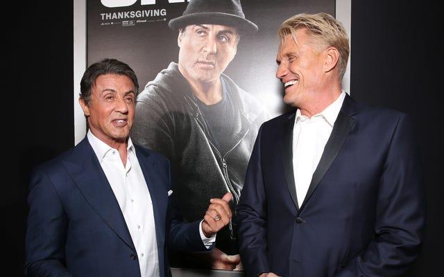 Sylvester Stallone e Dolph Lundgren realizzano un pilota televisivo che in qualche modo non è una sitcom di amici