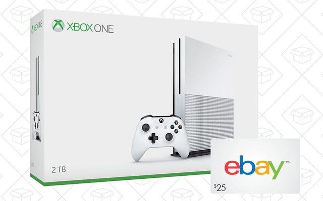 新しいXboxOne Sを購入すると、25ドルのeBayギフトカードが無料になります