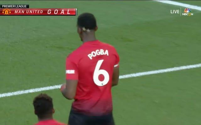 La pénalité Weirdo de Paul Pogba est le premier but de la saison en Premier League