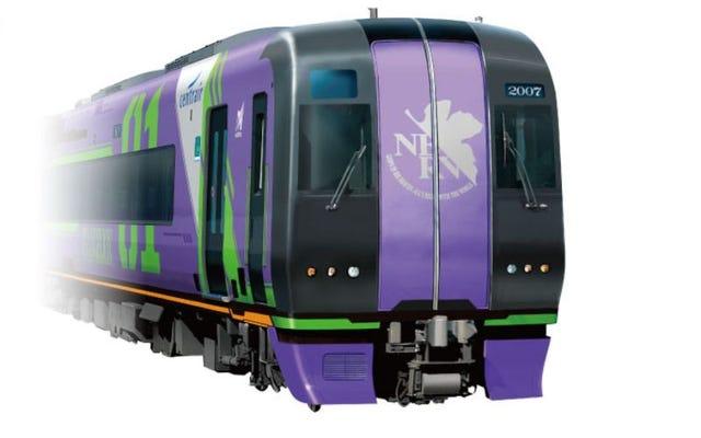 日本にはエヴァンゲリオンをテーマにした新しい列車があります