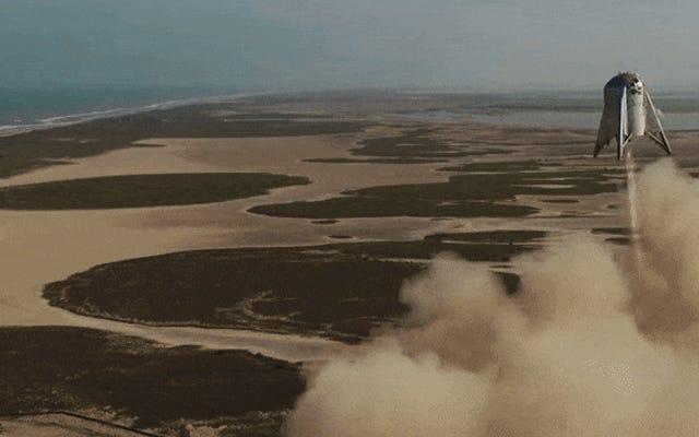 SpaceXのスターホッパーは初めて150メートルの高さで飛行します