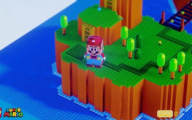 レゴスーパーマリオは夢の中で彼自身のビデオゲームを手に入れます