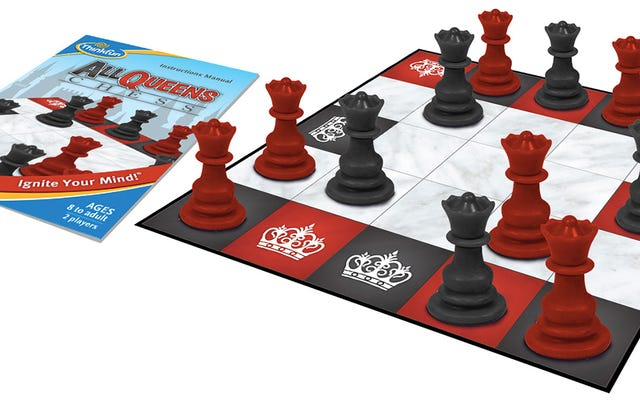 El ajedrez es aún más desafiante si se juega en un tablero pequeño con todas las reinas