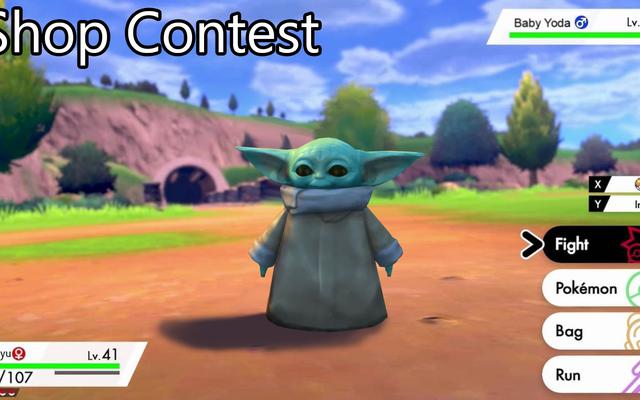 'Concorso negozio: Baby Yoda