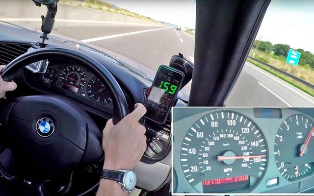 ดูความเร็วสูงสุดในโลกแห่งความเป็นจริงของ BMW M3 ราคาถูกด้วยระยะทางกว่า 130,000 ไมล์