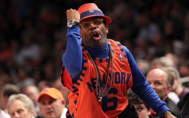 `` Vous voulez m'arrêter comme Charles Oakley? '': Spike Lee est confronté à la sécurité des Knicks