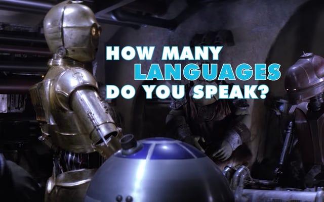 聖なるマクランキー、スターウォーズにはたくさんの異なる言語があります
