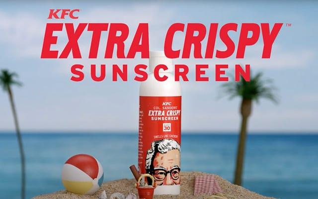 KFC सनस्क्रीन देता है जो फ्राइड चिकन की तरह आपको सूंघता है