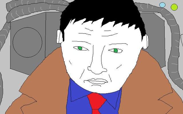 เช่นเดียวกับน้ำตาฝน Blade Runner แสดงผลใน Microsoft Paint