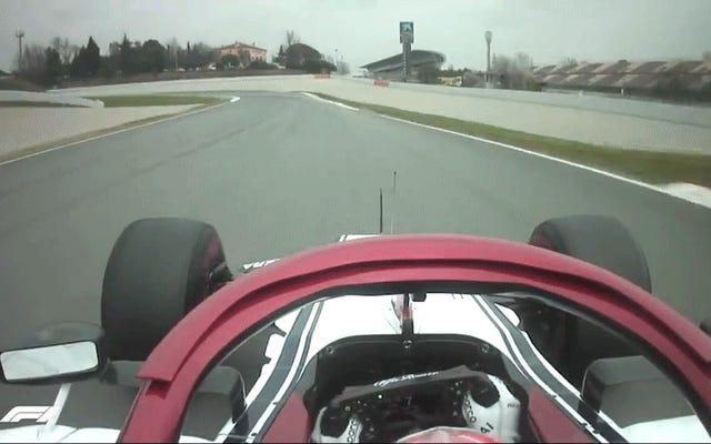 F1カーがこの地球に喜びを祝福していることを視覚的に思い出させる