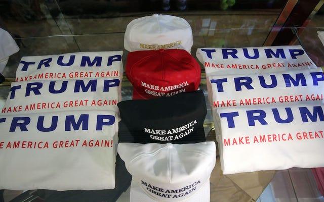 アメリカンアパレルは、その製品を使用したキャンペーンの報告を受けてトランプを否認します