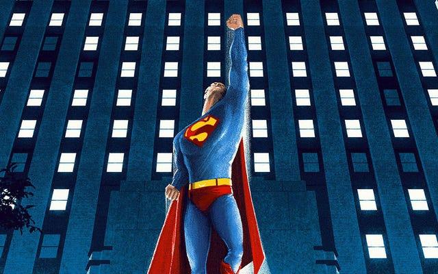 この古典的なスーパーマンの映画のポスターは単にスーパーです
