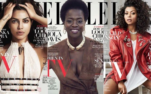 Priyanka Chopra ve Viola Davis Kapak Elle'nin Kadınları TV Sayısında