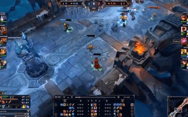 La magica palla di neve fa volare i giocatori di League of Legends sulla mappa