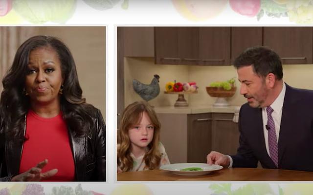 यहां तक कि मिशेल ओबामा को जिमी किमेल की बेटी को उसकी सब्जियां खाने के लिए नहीं मिल सकती हैं