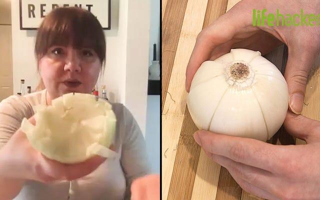 Est-ce la meilleure façon de couper un oignon en dés?