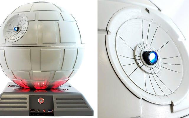 Bạn có thể nâng cấp vỏ máy tính Star Wars Death Star này bằng máy chiếu video Superlaser