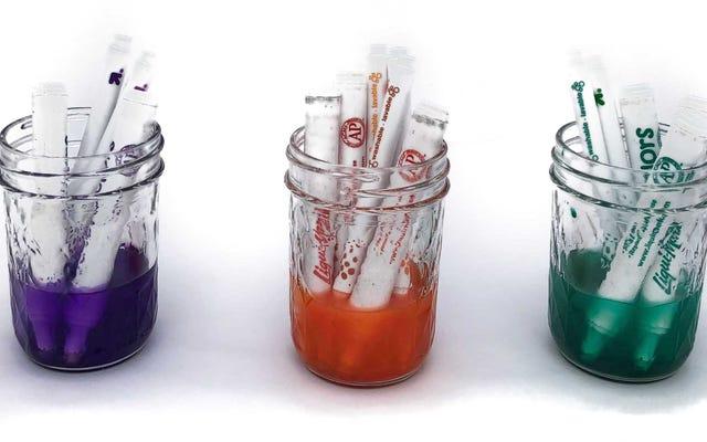 あなたの子供の乾燥したマーカーを液体水彩画として生き返らせる