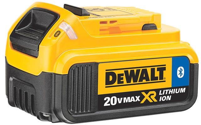 DewaltのBluetoothバッテリーは、ツール泥棒を阻止するためにシャットダウンできます