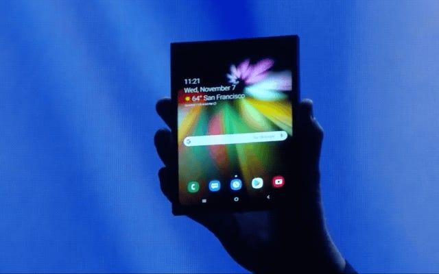 Samsung présente son premier téléphone pliable, mais ne révèle pas son design