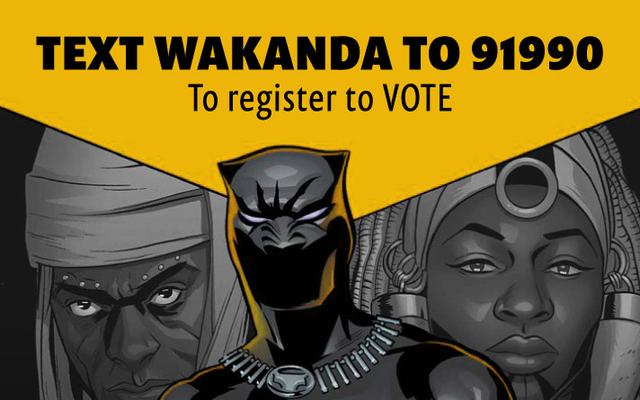 これらの活動家は、ブラックパンサーのショーで有権者を登録しています
