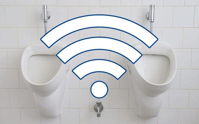 22,000人が利用規約を読んでいないため、WiFi用のトイレを掃除することに同意します