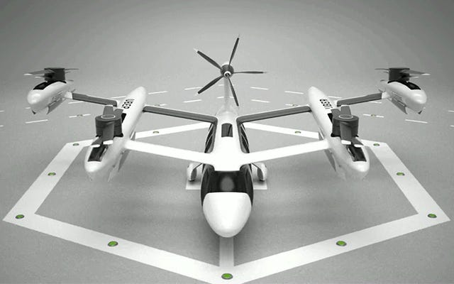 Uberの新しい空中タクシーのコンセプトは空飛ぶクルマのトウヒのガチョウのように見えます