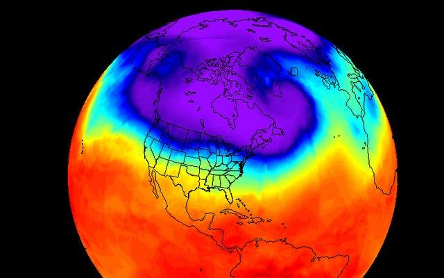 極渦が北米に戻ってきた