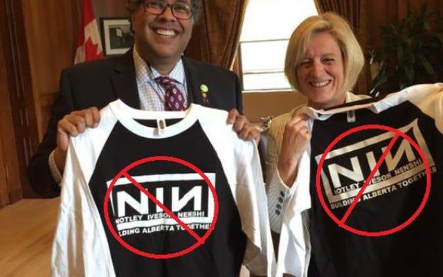トレント・レズナーはカナダ人にナイン・インチ・ネイルズのロゴの使用をやめるよう丁寧に頼みます