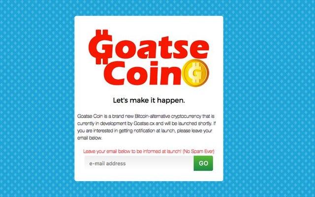 最愛のぽっかりと嫌いな人のヤギは独自のビットコインを作成しています