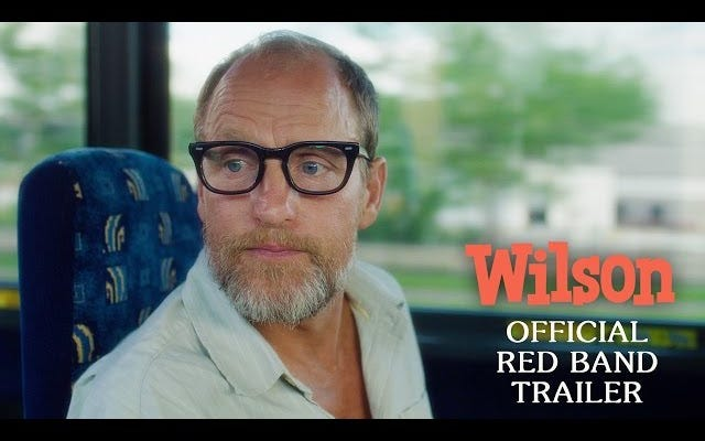 Вуди Харрельсон - персонаж Дэниела Клоуса в трейлере с красной лентой для Уилсона.