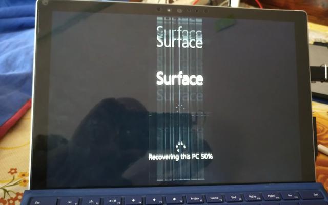 画面のちらつきを修正するためにSurfacePro4をフリーズしないでください