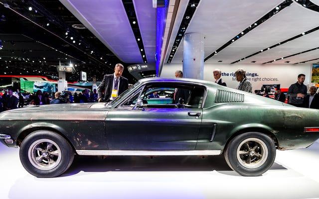 Nous nous sommes rapprochés et personnels avec l'original Bullitt Mustang