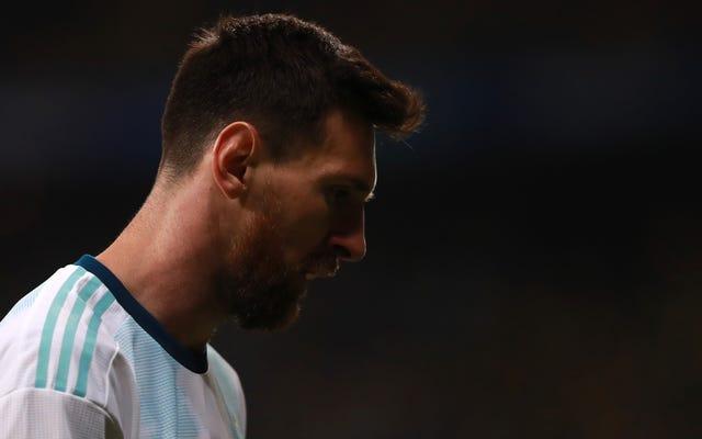 CONMEBOLは、バルセロナのファンを喜ばせるために、リオネルメッシを3か月間禁止します