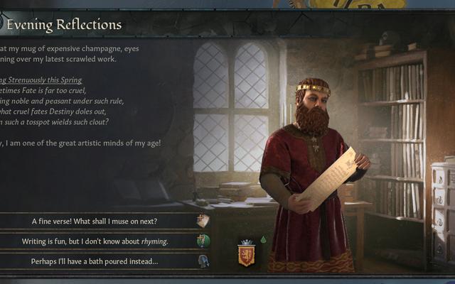 Crusader Kings III commence à écrire de la poésie