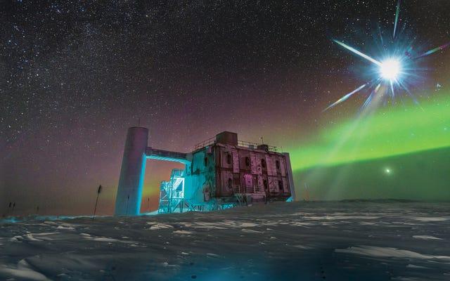 천문학 자들에게 우주선을 뿜어내는 블라 자에 대해 경고 한 남극 메시지보기