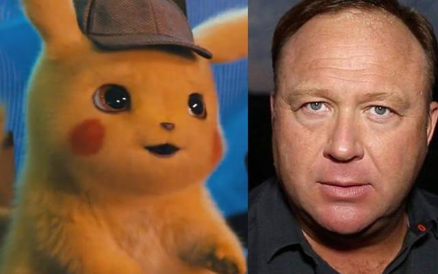 นักสังคมวิทยาบางคนรวมนักสืบ Pikachu กับ Alex Jones