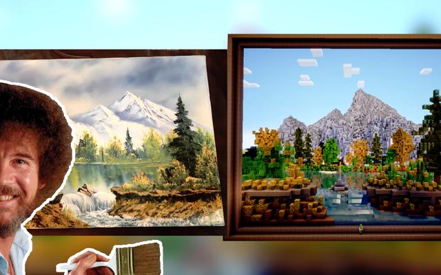 誰かがMinecraftでボブロスの絵を再現しました