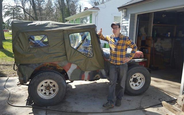Étaient hors! Ma jeep de ferme de 1948 commence le voyage de 1800 milles à Moab