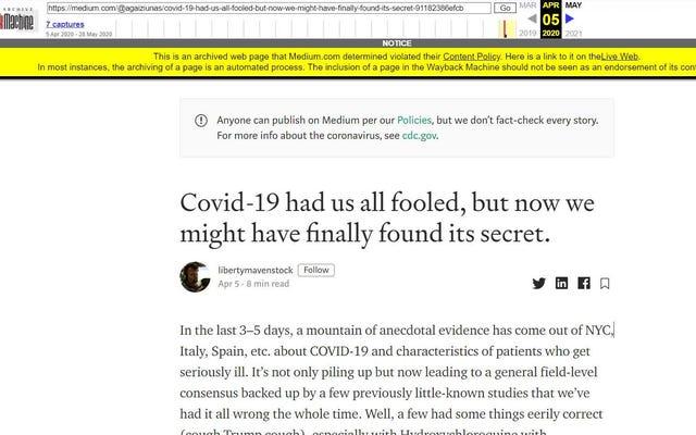 Даже машина Wayback теперь добавляет ярлыки для проверки фактов