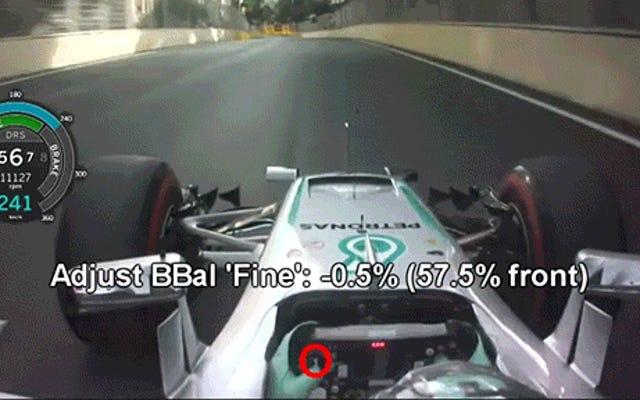 Estos son todos los botones que los pilotos de F1 presionan durante una carrera